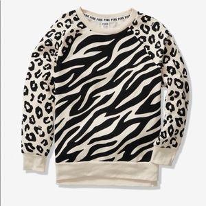 L VS Pink Legging Crew CHEETAH sweatshirt pullover